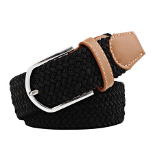 SiYing personality Women's canvas belt casual stretch knitting pin buckle belt