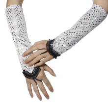 GOODTURN fashion Sequined gloves hook lace performance gloves
