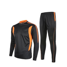 Anamode Adult Soccer Tracksuit Winter Football Training Uniforms Long Sleeve Jacket Suit Pants - Orange