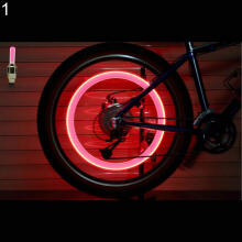 Farfi 2 x Flash Tyre Wheel Valve Cap Lights LED Lamps for Car Bike Bicycle Motorcycle