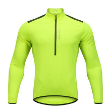 BL202 Bike Riding Suit Half-open Zipper Casual Light and breathable Top Fluorescent green BL202 L