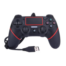 COZIME Joystick Gamepad Controller Vibration USB Wired Game Console for PS4 Red