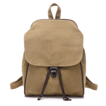 SiYing Simple solid color canvas handbag retro backpack