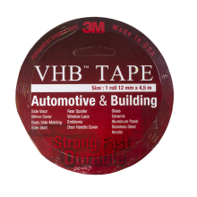 3M Double Tape 3M VHB 12 mm x 4,5 m ORIGINAL / DOUBLE FOAM TAPE Red