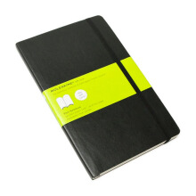 MOLESKINE Notebook Plain Soft Cover - Black - Large - QP618F