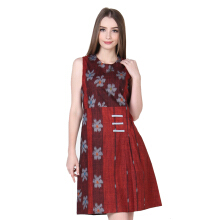 Rianty Batik Dress Wanita Lexia - Red