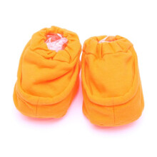Cribcot Booties Plain - Orange  3-6M