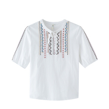 INMAN 1882012292 Blouse Women Retro Embroidery Tops Blouse