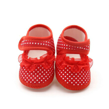 Saneoo Valerie Prewalker Baby Shoes Red 0-3 Bln