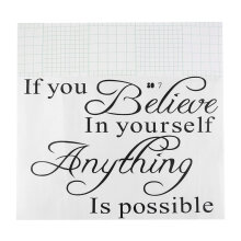 [kingstore] If you believe in yourself Quote Removable Vinyl Decal Art Mural Wall Stickers Black