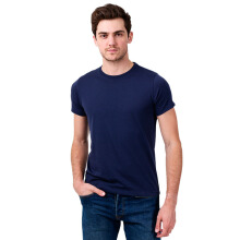 STYLEBASICS Men's Round Neck Basic T-shirt - Blue Denim