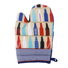 ARNOLD CARDEN Oven Mitts Cheers Bottle Right Side - Blue 19x32cm