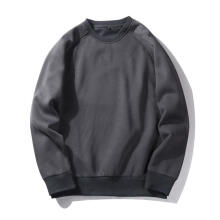 Farfi Men Solid Color Casual All-Match Sweatshirt Pullover Long Sleeve Winter Top