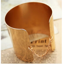 Metal mirror Bracelet gold