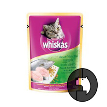 WHISKAS 85 gr adult tuna and white fish