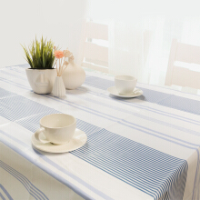 FOOJO rich waterproof and oil-resistant PVC table cloth tablecloth 135 * 180cm blue