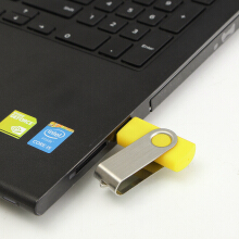 Swivel 8MB 8M USB2.0 Flash Memory Drive Storage Thumb Stick Pen Gift Folding[Black] Yellow