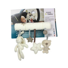 [kingstore] Safety seat pendant plush built-in rattle White