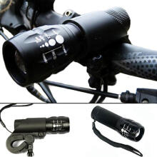Farfi 240 Lumen Q5 Cycling Bike Bicycle LED Front Head Light Lamp Torch With Mount as the pictures