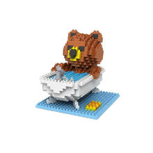 LOZ Large Diamond Block Mainan Anak Edukasi 9429  Bear Bathing