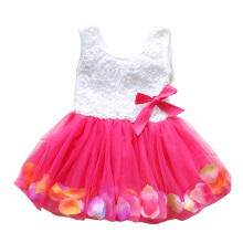 Anamode Children Pearls Dresses Petals Frocks Baby Kids Princess Vest Clothes -