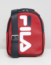 Fila Soho Red Mini Backpack With Red Contrast Straps Red