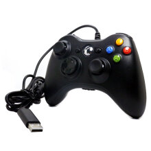 COZIME Gamepad For Microsoft Xbox 360 USB Wired Controller Ergonomic Joypad Black