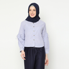 NAFEESA Tunik Inayah Navy Navy Blue All Size