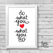 KATAKU Poster & Bingkai Motivasi - Do What You Love 3 - Hiasan Dinding