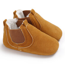 TOWER PRO C-430 Soft Sole Baby Moccasins Child Shoes Infant Toddler Crib Yellow 11cm