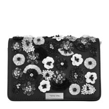 MICHAEL BY MICHAEL KORS Jade Medium Gusset Clutch Black [MMK01534B] Black