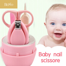 BLINGO Lovely Baby Nail Care Set Scissors Clipper Trimmer Convenient Nail Shell Shear Manicure Kit Pink