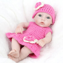 [COZIME] Baby Doll Infant Reborn Handmade Doll Eco-friendly Girl Doll For Gift Training Skin Color&Rose Pink