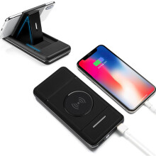 Blitzwolf Bakeey 2 in 1 Qi Wireless Charger with Holder 10000mAh Power Bank Case for Samsung Xiaomi Huawei   -  -