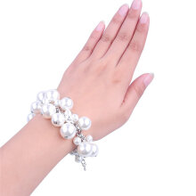 Imitation Pearl Girl Bracelet Ladies Bracelet Fashion Christmas Party Bangle gold