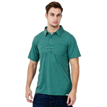 COLUMBIA Trail Shaker Mens Polo - Pine Green Heather