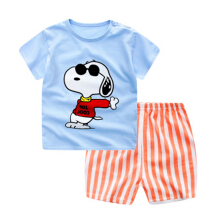 Boys and girls short-sleeved shorts suits Kids summer clothing Cotton cartoon printed short sleeves