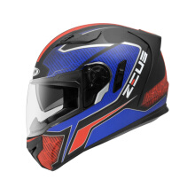 ZEUS  ZS-813 MBLK AN12 - Helm Full Face - Red Blue