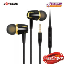 JOYSEUS J682 Wired 3.5mm Earphone earbuds Wire Music Headset Handsfree With Microphone earbuds Headphone Black