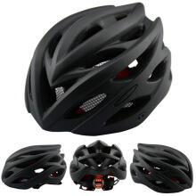 Farfi Bicycle Matte Air Vents Back Light Integrally Molded Mountain Road Bike Helmet Matte Black