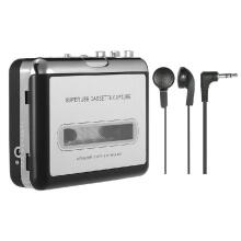 REFURBISHHOUSE Portable Cassette Player Portable Tape Player Captures Cassette Recorder via USB Compatible with laptops - PC convert tape cassettes to iPod / MP3 / CD format with headphones