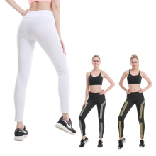 ESG Women Jogger Night Running Pants Iridescent Striped Printed Reflective Sports Pants High Waist Stretch Yoga Pants Leggings Fitness Pants