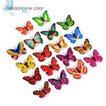 [kingstore] LED Lighting Colorful Butterfly Wall Stickers LED Night Light Home Wall Decor Multicolor