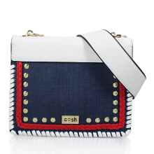 Gosh Lunaria-310 Denim Sling Bag White