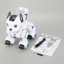 COZIME K10 Smart RC Dog Dance Patrol Remote Control Robot Electronic Pet Kid Toy White