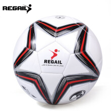 Shengmeiid Size 5 PU Star Competition Training Soccer Ball Football  - Red with Black