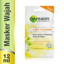GARNIER Light Complete Peel-off Mask 2x6 ml