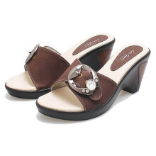 SANDAL HIGH HEELS / WEDGES KASUAL WANITA - BDN 911
