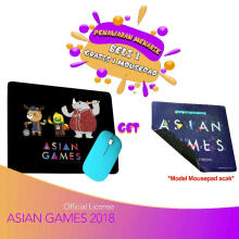 Asian Games 2018 Square Trio Mouse Pad - Black