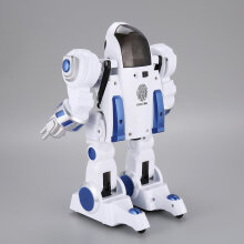 COZIME K4 Intelligent Fingerprint Deformation Police RC Robot Walking Kid Toy Gift White